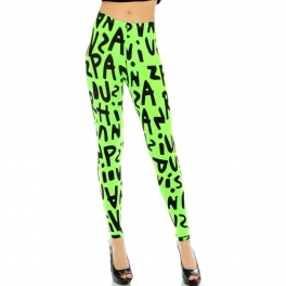wholesale L37 Alphabet leggings Lime/Black