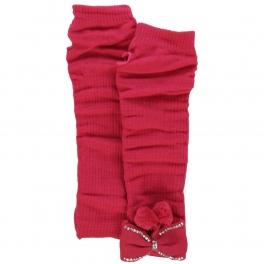 wholesale N43 Embellished knit arm warmers Fuschia
