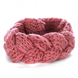 wholesale L42 Braided knit headband Pink fashionunic