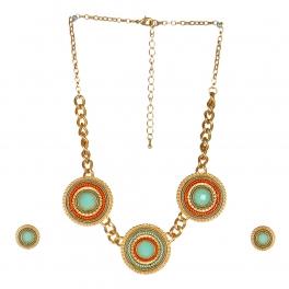 wholesale N34 NEG369-1 Stone Bead Necklace set GLM