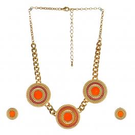 wholesale N34 NEG369-2 Stone Bead Necklace set GOR