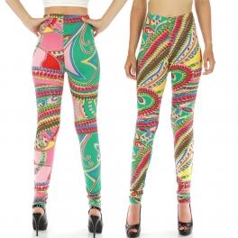 wholesale A35 Donatella Leafy Ferns leggings fashionunic