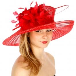wholesale BX60 Sinamay cross stitching hat Black