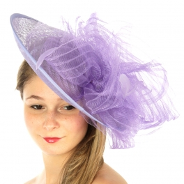 wholesale BX70 Swirl feather fascinator Lavender