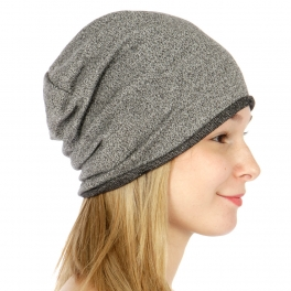 wholesale R52 French terry cotton beanie Charcoal