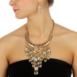 wholesale N44 Aztec feather necklace set AGMT