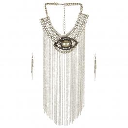Wholesale L23 Metal chain choker necklace set SB