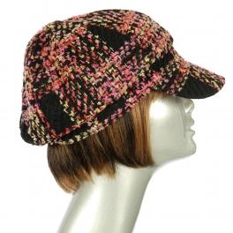 Wholesale W52 Multicolored tweed cabbie Pink fashionunic