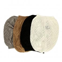 Wholesale W59 Pointelle solid knit beanie Dozen