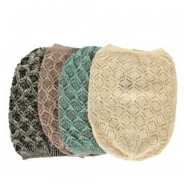 Wholesale W60 Open knit solid metallic beanie Dozen