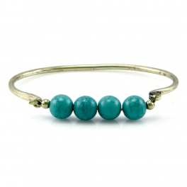 Wholesale L28C Turquoise beads bangle GB fashionunic