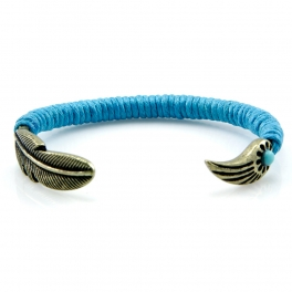 Wholesale L28C Wrapped metal feather and wing cuff GBTQ