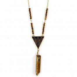 Wholesale L34D Tribal stone drop necklace GD fashionunic