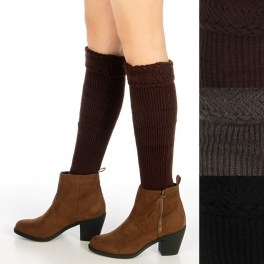 wholesale Rib knit leg warmers Dozen fashionunic