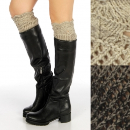 wholesale Two tone open stitch boot toppers Dozen