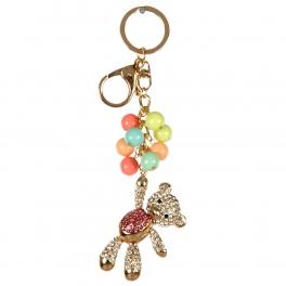 wholesale Studded teddy bear keychain fashionunic