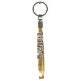 wholesale Studded BELIEVE on metallic keychain G