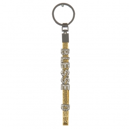 wholesale Studded BLESSED on metallic keychain G