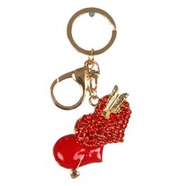 wholesale Studded hearts and arrow keychain fashionunic