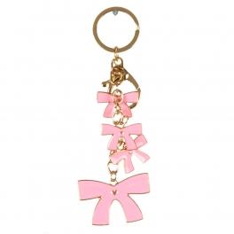 wholesale Dangling pink bows keychain fashionunic