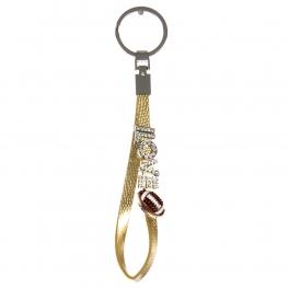 wholesale Studded ilovefootball on metallic keychain G