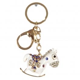 wholesale Studded rocking horse keychain fashionunic