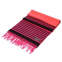 wholesale Cashmere feel multi striped scarf Pink fashionunic