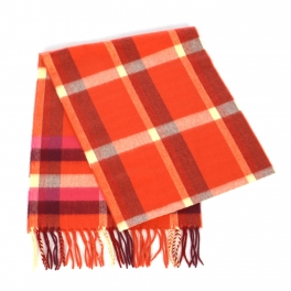 wholesale O69 Plaid cashmere feel scarf 51601 Orange