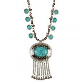wholesale Dangling stones on metal necklace RH TQ