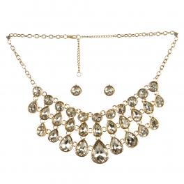 wholesale Layered stone drop necklace set GDCR fashionunic