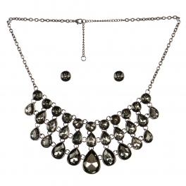 wholesale Layered stone drop necklace set BNBD fashionunic