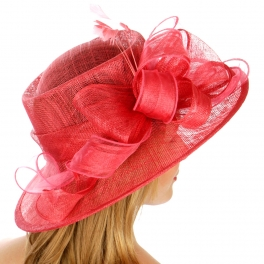 wholesale Loops and feathers sinamay hat BK fashionunic