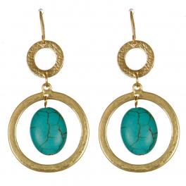 Wholesale M08D Metal circle drop earrings G