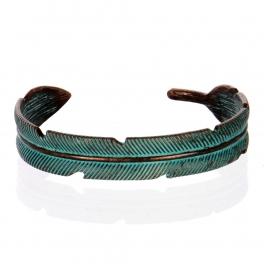 Wholesale L26A Feather plain cuff necklace OG