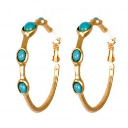 Wholesale M02E Stone accent hoop earrings G