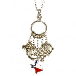 Wholesale L04E Texas state charm necklace TTMX
