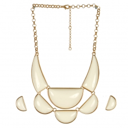 Wholesale L05C Pendant Necklace/IVORY-GOLD
