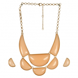 Wholesale L05C Pendant Necklace/LIGHT PEACH-GOLD