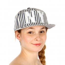 Wholesale T26A NY Stripe Hat WHBLK