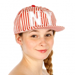 Wholesale T26A NY Stripe Hat RED