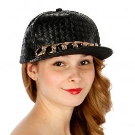 Wholesale T26A Woven Texture Snapback Hat GDBLK