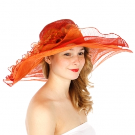 Wholesale BX80 Multi Layers Lovely Dress Hat RED