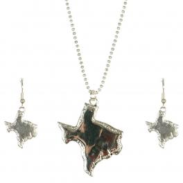 Wholesale M11A Texas State Pendant Necklace Set AS