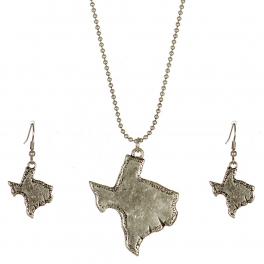 Wholesale M11A Texas State Pendant Necklace Set SB
