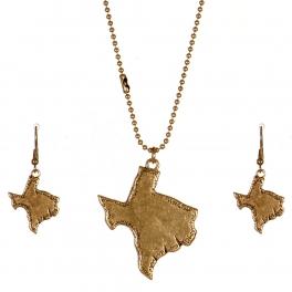 Wholesale M11A Texas State Pendant Necklace Set RGB