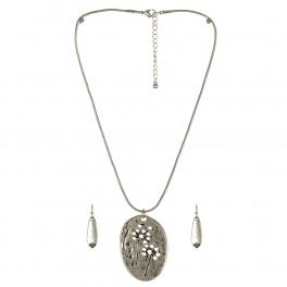 Wholesale M11A Stone Featured Pendant Necklace Set SB