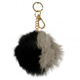 Wholesale P13A Fur Pom Pom Keychain BKGR