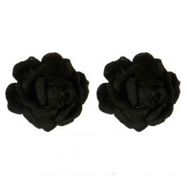 Wholesale M15A Blooming Flower Shoe Clips BK