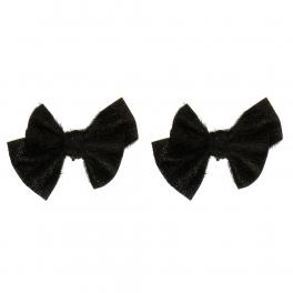 Wholesale M15A Simple Black Ribbon Shoe Clips BK