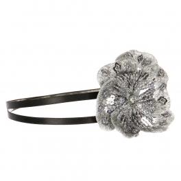 Wholesale L36E Sequins Flower Double Headband Black